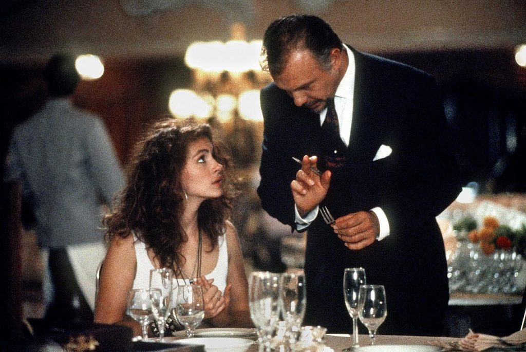 Pretty woman and hotel management